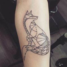 Geometric fox  #geometric #tattoo #fox #animal #arm