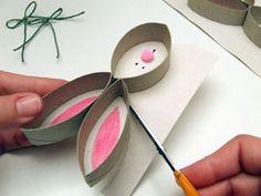 Kreatív ötletek - praktikák, technikák és ötletek oldala: Nyuszi WC papír gurigaszeletből
