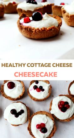 Clean eating, high-protein cottage cheese cheesecake - no sugar, sweetened with honey. Crust is flourless, made with ground oats. A very addictive healthy dessert, that you could also have for breakfa (Cottage Cheese) Healthy Cheesecake, Cheesecake Recipes, Healthy Dessert Recipes, Healthy Desserts, Healthy Food, Eating Healthy, Healthy Living, Vegan Recipes, Cottage Cheese Desserts
