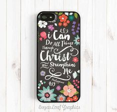 Philippians 4:13 I Can Do All Things Through Christ, Bible Verse, iPhone 4s 5s 5c 5 6 Plus Case, Galaxy S3 S4 S5 Case, Note 3 4 Case Qt54