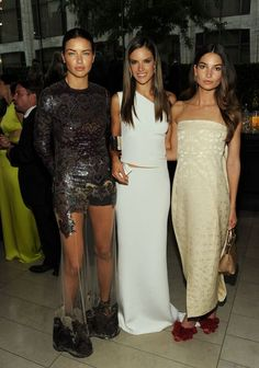 victoriassecretangelsss:  Adriana, Alessandra and Lily at the CFDA Fashion Awards 2013