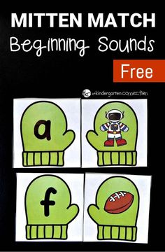 A super fun beginning sounds game for preschoolers and kindergarteners this winter!