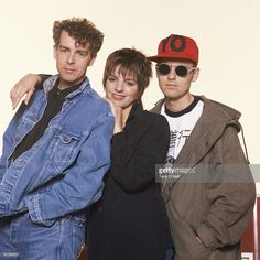 Singer Liza Minnelli with pop duo The Pet Shop Boys, Neil Tennant and Chris Lowe.