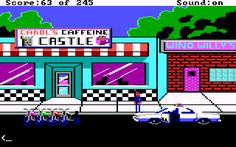 I Love Police Quest IV ! This is the scene where the harley's fall ... and you need to RUN! ;-)