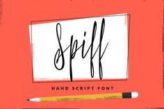 Spiff - Hand Script Font ~ Script Fonts on Creative Market
