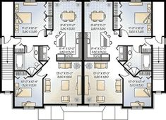 Colonial Multi-Family Plan 65180 Level Two