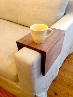 LIMITED SUPPLY Reclaimed Wood Couch Arm Table by arcandtimber