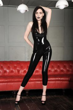 SK Leather - Rooney Mara latex fake 08 by ElisabetaM on DeviantArt Latex Babe, Sexy Latex, Goth Women, Sexy Women, Latex Dress, Jenna Coleman, Latex Girls, Skin Tight, Catsuit