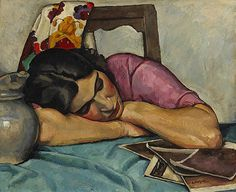 Suzy Edwin Holgate (Canadian, Oil on canvas. National Gallery of Canada. In France Holgate developed his own style both in landscape painting and in figure painting (for instance. Canadian Painters, Canadian Artists, Tom Thomson, Figure Painting, Painting & Drawing, Art Inuit, Blog Art, L'art Du Portrait, Sleeping Women