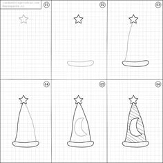 How to draw a magicians hat.