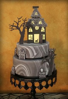 Halloween Marbled Cake  this reminds me of Everybody Talks by Neon Trees