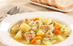 10 sopas tipicamente portuguesas | As Minhas Receitas Sopas Low Carb, Thai Red Curry, Love Food, Cantaloupe, Potato Salad, Food And Drink, Cooking Recipes, Fruit, Ethnic Recipes