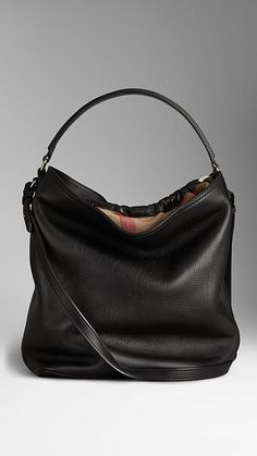 Burberry Medium Brit Check Leather Hobo Bag. Find them on eBay, brought together for you in one convenient site! Time and money savings! www.womensdesignerhandbag.com
