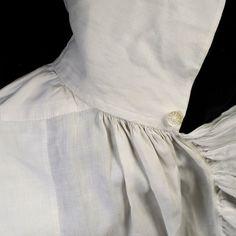 Man's linen shirt, late century 18th Century Clothing, 18th Century Fashion, 19th Century, Men's Fashion, Fashion History, Empire Fashion, Victorian Shirt, Victorian Dresses, Victorian Gothic