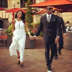 Gabby x D Wade   But I love that dress and shoes!!.and he hair!