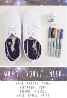 Time for Tea: Tutorial # 14 galaxy shoes :].In my case we will color them and write scripture verses on them and relate them to our studies. Sharpie Shoes, Sharpie Colors, Sharpie Art, Sharpies, Diy Galaxy Shoes, Posca Art, White Canvas Shoes, Do It Yourself Fashion, Hand Painted Shoes