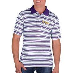 Ncaa LSU Tigers Men's Classic-Fit Striped Polo Shirt, Size: XL, Purple