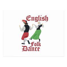 Folk Dance Postcard