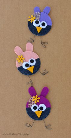 Jeans animals craft for kids Denim craft ideas Denim jeans craft ideas for kids Jeans animal crafts project for preschoolers Cd Crafts, Jean Crafts, Denim Crafts, Fabric Crafts, Diy And Crafts, Crafts For Kids, Arts And Crafts, Paper Crafts, Artisanats Denim