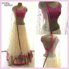 Beautiful lehenga -https://www.cooliyo.com/product/127313/off-white-rani-lehenga-choli/