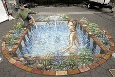 Most Amazing 3D sidewalk art.