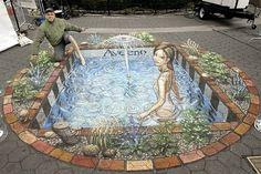 Most Amazing 3D sidewalk art.