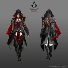 Concept art created for Assassin's Creed Syndicate (including DLC). Assassins Creed Cosplay, Assassins Creed Syndicate Evie, Assassin Costume, Assassin's Creed Wallpaper, Armadura Cosplay, Templer, Fantasy Costumes, Concept Art, Steampunk