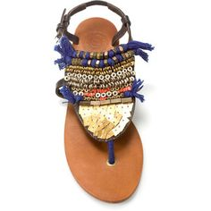 Ethnic Toe Post Sandal. For more ethnic style and tribal fashion visit: http://www.wandering-threads.com/