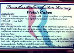 Ann's Welsh Cakes are delicious!