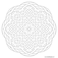 MANDALAS TO PRINT AND COLOR~ Intricate patterns, templates and line art.