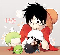 Luffy & Law & Zoro