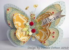 Butterfly card, very cute and looks easy to make - note to self, buy a cutting machine.