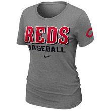 Cincinnati Reds Womens Practice T-Shirt by Nike