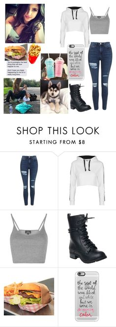 """hanging with (?)"" by jessica101turner ❤ liked on Polyvore featuring Topshop, Reneeze and Casetify"