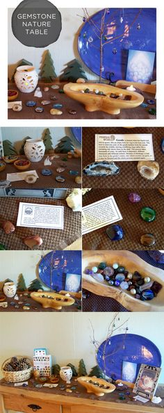 Great tips and resources for setting up a gemstone nature table, which will surely delight the young scientists in our lives…