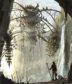 windmills in a canyon by maddendd on DeviantArt