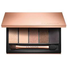 Clarins Five Colour Eyeshadow Palette ($48) ❤ liked on Polyvore featuring beauty products, makeup, eye makeup, eyeshadow, beauty, clarins, clarins eyeshadow, palette eyeshadow and clarins eye shadow