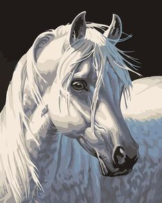DIY Oil Painting By Numbers Abstract Animals White Horse Frameless Painting On Canvas Home Decoration Home Wall Kids Room Deco. Yesterday's price: US $15.63 (12.93 EUR). Today's price: US $8.44 (6.85 EUR). Discount: 46%.