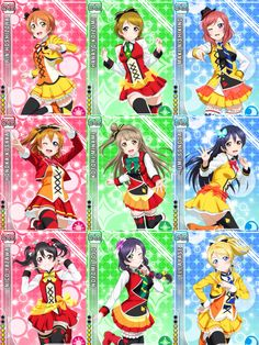 i dont like these very much, but if i had to choose favorites theyd be rin and hanayo. Love Live, Live Set, Sunny Day Song, Pretty Cure, Anime Fantasy, Girl Bands, Anime Outfits, Anime Chibi, Anime Style