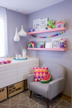 Baby room interior and decor.