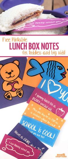 Grab these free printable lunch box notes to add that personal touch to your child's lunch! They include fun, positive messages, plus two picture cards for toddlers and non-readers! (sponsored)