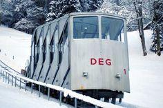 Standseilbahn Engelberg-Gerschnialp Plan Incliné, Vintage Ski Posters, Engelberg, U Bahn, Switzerland, Skiing, Paradise, Cable, Snow