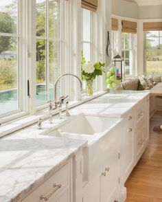 Kitchen farmhouse sink is from Signature Hardware. It is the wide Risinger. Kitchen farmhouse sink is from Signature Hardware. It is the wide Risinger double bowl fireclay sink. Farmhouse Sink Kitchen, Kitchen Redo, New Kitchen, Kitchen Ideas, Kitchen White, Kitchen Interior, Farmhouse Style, Rustic Kitchen, Farmhouse Interior