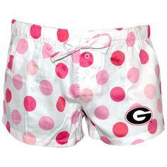 Georgia bulldogs women's pink polka dotted pajama shorts