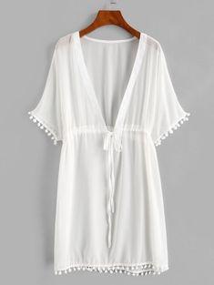 Sheer Chiffon, Chiffon Fabric, Collars For Women, Suits For Women, Beach Dresses, Casual Dresses, Cheap Swimsuits, Swimwear Fashion, Bad