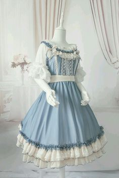 I love this ruffly blue and white French inspired dress.