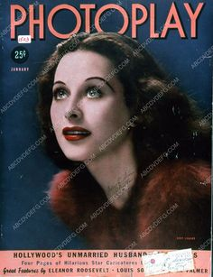 Hedy Lamarr Photoplay magazine cover 35m-5727