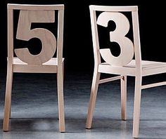 sedia design original NUMBERS by Luigi Billiani Billiani
