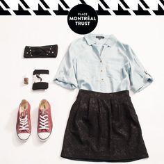 Découvrez notre look de la semaine. / Discover our look of the week. #PMTLook #Look #PlaceMtlTrust #SmartSet #LittleBurgundy #Winners #NStyleNailLounge