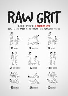 Raw Grit  Workout | Posted By: AdvancedWeightLossTips.com